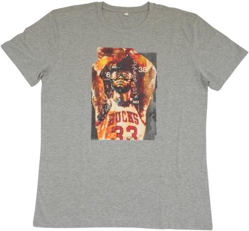 ACTS- Basketball Heros -  T-shirt - Collo a U  - Maniche corte  - Uomo grigio grigio Large