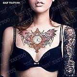 tattoos Brust - Tattoo wasserdicht flügel buchstaben sexy Frauen - Tattoo