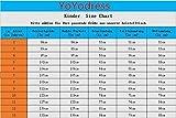 YoYodress Spitze Blumenmädchenkleider ärmellos Kinder Party Kleider mit Gürtel erste Kommunion Kleid (Alter 10, Elfenbein) - 3