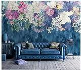 Apoart 3D Papier Peint Mur De Fond Minimaliste Vintage Abstrait Fleur Rose Chambre À Coucher 140Cmx100Cm