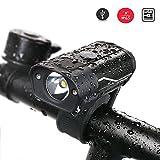 LED Fahrradbeleuchtung DUTISON USB Wiederaufladbare Fahrradlicht Fahrradlampe LED Frontlichter Wasserdicht Fahrradlichter 5 Lichtmodusoptionen (IP65)