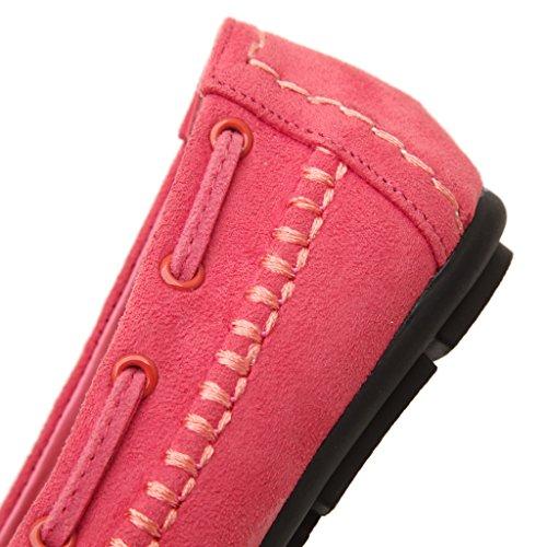 Fortuning's JDS Mocassins en daim Mocassins cuir Bean Chaussures Femme Rose