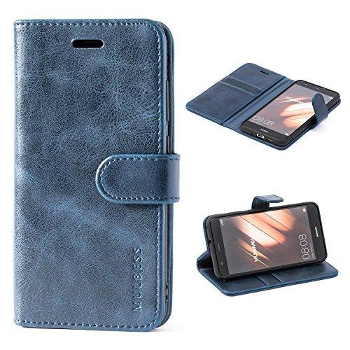 Custodia Huawei P10 Lite, Cover Huawei P10 Lite, Mulbess Custodia In Pelle Con Supporto / Chiusura Magnetica per Huawei P10 Lite Custodia Pelle, Blu notte