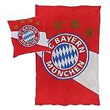 FC Bayern München Bettwäsche rot/weiß, Größe 135/200 80/80 Biber