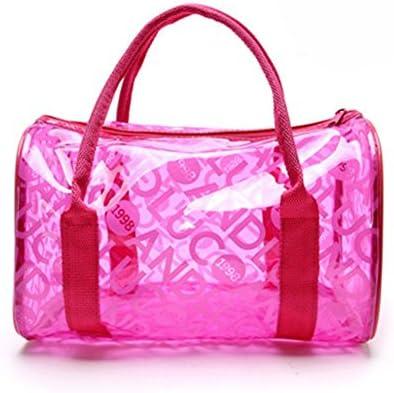 hugestore Niñas resistente al agua Jelly transparente bolsa de playa bolso de mano bolso de mano bolsas de bolsa de almacenamiento bolsa de natación de PVC
