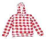 """Blutsgeschwister Kids   Rot-weißer Kapuzenpullover """"Woody Hoody"""" für Mädchen Größe 110/116"""