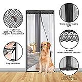 Fliegengitter Magnet Insektenschutz Fliegen Vorhang für Balkontür Wohnzimmer Klettband Fassung Schwarz Moskitonetzes für Terrassentür