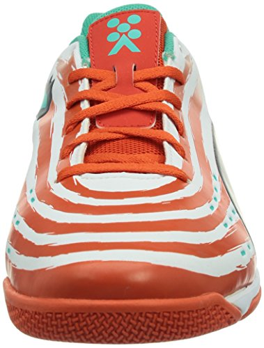 Puma Trovan Lite, Chaussures indoor homme Orange - Orange (white-grenadine-turbulence-pool green 09)