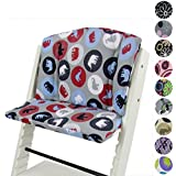 Babys-Dreams–Asiento Cojín para cojín asiento cojín Set Stokke funda para Tripp Trapp Trona * 10colores multicolor * 2piezas redondo