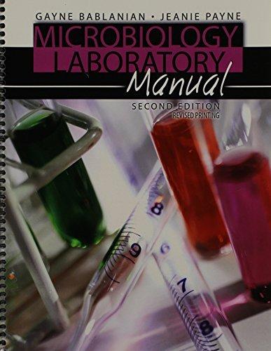 Microbiology Laboratory Manual by BABLANIAN GAYNE (2012-07-26) par BABLANIAN GAYNE;PAYNE JEANIE