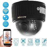 """KKmoon 720P HD Cámara IP Wifi Domo 1.0MP 1/3"""" CMOS, PTZ 2.8-12mm, Auto-Foco, Zoom Lens, 22 IR Lamps IR-CUT Visión Nocturna APP Control Detección Movimiento Uso Interior"""