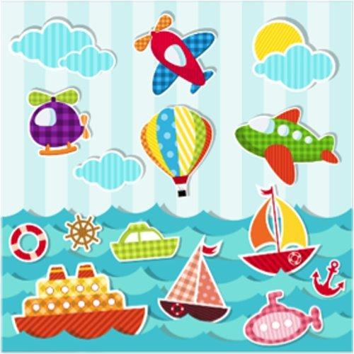 Motiv Luft (40 hochwertige Servietten mit Kindermotiven / Motivservietten 33x33cm (BA16-030 Kinder Meer & Luft))
