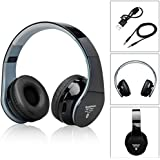 bluetooth headphones para auriculares sobre las orejas con 3.5mm cable de audio, auriculares Bluetooth plegable con tecnolog¨ªa de reducci¨®n de ruido de la tarjeta del TF y microfonoper iPhone de Apple iPhone Android Tablet PC, etc.