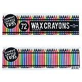 72 Pastelli Colorati con Temperamatite Inclusivo di Stomping Ground Toys - Set di Pastelli a Cera - Ottimo per la Colorazione - Non Tossico e Sicuro per i Bambini