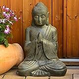 Buddha Statue XL groß 50cm für Wohnzimmer Oder Garten sitzend