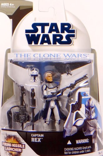 Hasbro Captain Rex with Firing Missile Launcher CW4 - Star Wars The Clone Wars ()