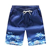 Summer Lovers Mens Beach Shorts Beachwear Pants Beach Resort Fast Dry Surf Swim Coconut Trees Printted