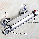 Interlink Duschthermostat thermostat Duscharmatur Mischbatterie Brausethermostat Thermostatventil Dusche - 3