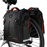 BV-Fahrrad-Gepäckträgertaschen 2 per, Seitentaschen 2 per, Fahrradtaschen, Bike Panniers (Pair), with Detachable Shoulder Straps and All Weather Rain Covers