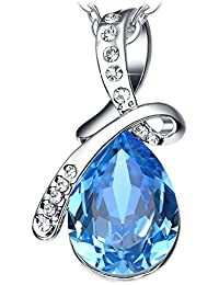 "NEEMODA ""Eternal Love"" Luxury Crystal Pendant Necklace with Gift Box"