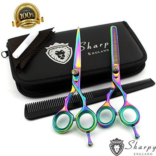 New Professional Salon Hair Schneiden + Effilierschere Friseur Scheren Friseur Set Hair Tools Titan 15,2cm