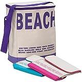 Kühltasche 20 Liter Kühlbox Isoliertasche Campingtasche Beachtasche - mit Schultergurt - schließbarer Deckel - fester Boden - geringes Eigengewicht - Pink - Farbwahl