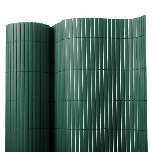Recinzione giardino e balcone in pvc casa pura®   Verde   100x300 cm   7 misure disponibili