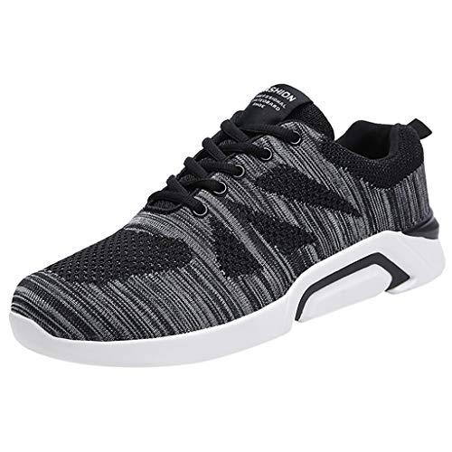 Masoness Herrenschuhe Paar-Fliegen-gesponnene Ineinander greifen-Schuhe schnüren Sich Oben beiläufige Schuh-Kursteilnehmer-Sport-laufende Schuhe,Wearable Freizeitschuhe Liebhaber Schuhe -