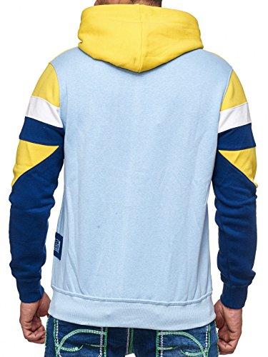 Rusty Neal Sweatshirt Mix Herren Sweat Hoody Kapuze Reißverschluss 19046 Gelb