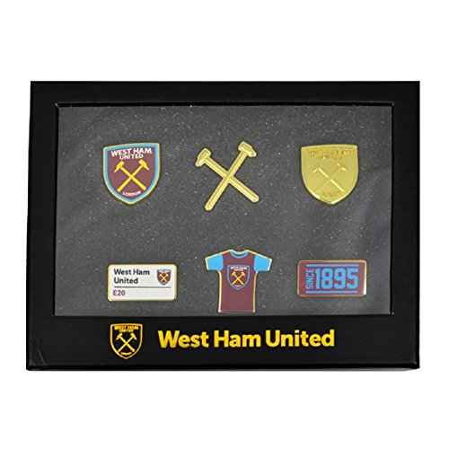 West Ham United F.C. Lot DE 6 Badge Officiel