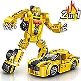 joylink Robot Toy, 2 en 1 Juego Creativo Bloques de construcción de...