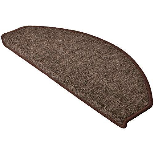 Beautissu tappeti scale prostair 65x24cm - set da 15 passatoie singole per gradini - retro adesivo antiscivolo - marroncino