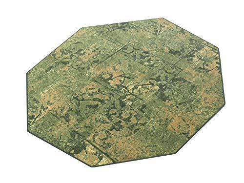 HEVO Hotel Retro grün Kettel Teppich 100% Polyamid 200x200 cm Achteck