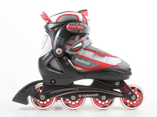 Best Sporting Inline Skates Tornado, Verstellbarer Inliner in der Größe L 38-41, Farbe: rot