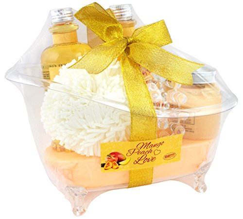 BRUBAKER Mango Peach Love Bade-Geschenkset - Wellness Set