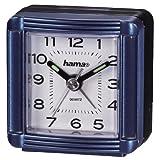 Hama A30 Reise Wecker (analoger Wecker, selbstleuchtender Minuten-und Stundenzeiger) blau