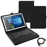 UC-Express Tablet Tasche Keyboard Case Acepad A121 A140 A101 Tastatur Hülle Bluetooth QWERTZ Cover