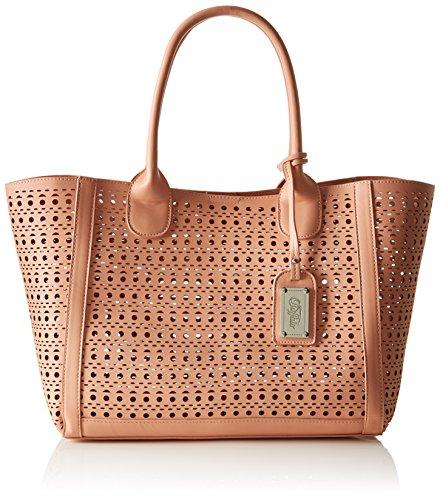 Buffalo Damen Tasche BAG 601959 LEATHER PU Damen Henkeltasche 17x25x34 cm (B x H x T), Pink (PINK 01)