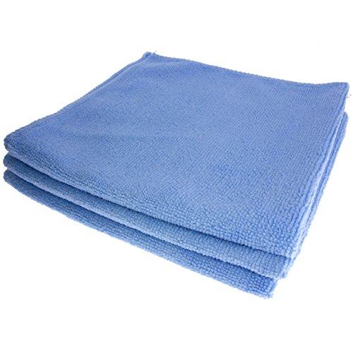 GARIELLA 3 erstklassige Mikrofasertücher/Poliertücher/Staubputztücher/Autopoliertücher/Putztücher/blau