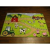 Non Slip Kids Farm Large Play Mat /Rug 100cm x 150cm Hours Of Fun