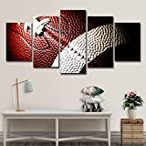 ZHAOCAI Leinwand Malerei Gedruckt 5 Stücke American Football Wandkunst Leinwand Bilder Für Wohnzimmer Schlafzimmer Modular Home D