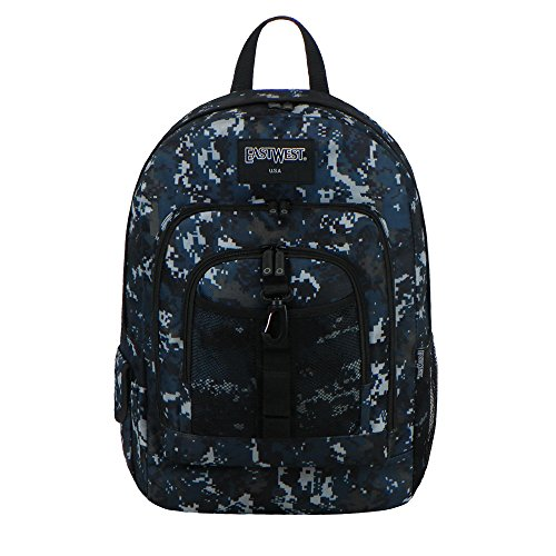 East West USA BC104 Digital Camouflage Military Sports Rucksack, Navy Camo Digital Rucksack