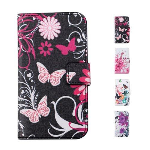 D9Q Aquarell PU Leder Flip Brieftasche Stehen Haut Case Cover Hülle für Apple iPhone 5 5S !!Stil A