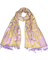 Lovarzi Polka Dot Floral Scarf for Women - Beautiful spot scarf cum shawl with floral design