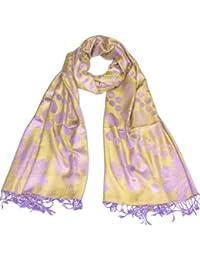 Lovarzi Getupfte Damen-Schal - Reversierbarer Frauen Schal in getupfte und geblümter Design