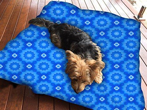 Flora-muster (Flora Muster Wand Hundebett Pet Supplies Große extra Größe XL Reißverschluss mit Innenkissen)