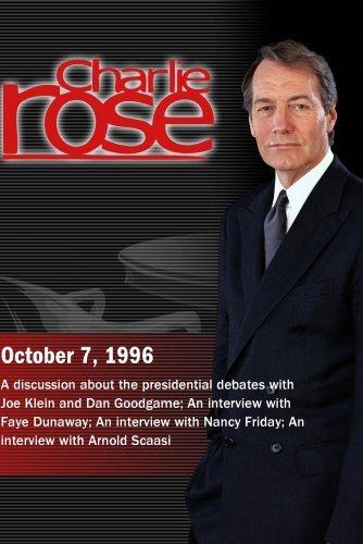 Charlie Rose with Joe Klein & Dan Goodgame; Faye Dunaway; Nancy Friday; Arnold Scaasi (October 7, 1996)
