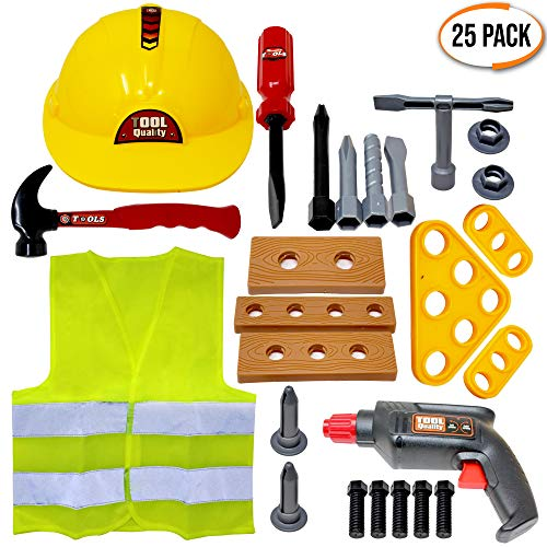 25 Pcs Role Play Construction To...