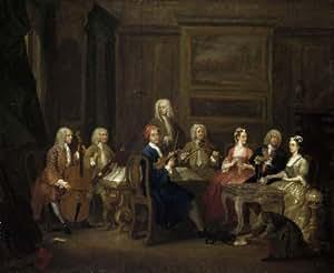 Poster/Impression sur toile - 12 x 10 inches / 30 x 25 CM - William Hogarth - Une partie musicale...
