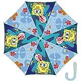 Arditex–008286–Paraguas con apertura automática–de Poliéster–Licencia Bob Esponja–8Varillas–48cm